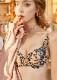 フラワー刺繍高品質下着セット(ベージュ)《かわいいコスプレランジェリー》【Malymoon/マリームーン】【2692】