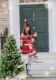 【即日発送】ドット柄オフショルサンタクロース《クリスマスコスプレ7点セット》【Malymoon/マリームーン】【9597】