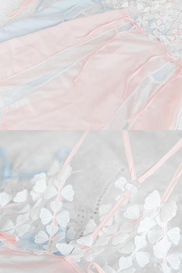 2カラーフラワーランジェリー《かわいいコスプレ2点》【SEVENTY-THREE】【5941】