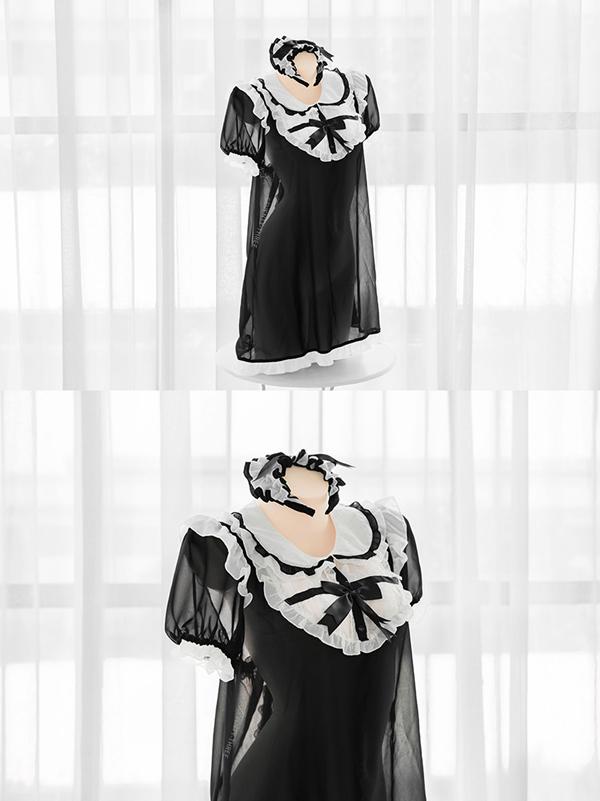 修道女シフォンワンピース《かわいいコスプレ2点セット》【SEVENTY-THREE】【k0605】