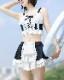 フリルスカート水着《かわいいスイムウェア2点セット》【SEVENTY-THREE】【5944】