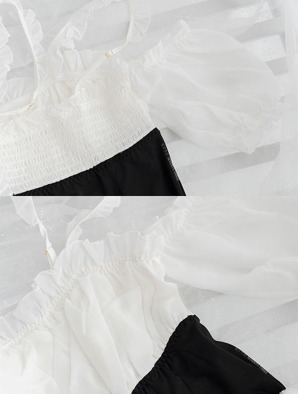 オフショルメイド服《かわいいコスプレ2点セット》【SEVENTY-THREE】【2726】