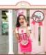 【在庫限り】【70%OFF】【即日発送】アメリカンウェイトレキッズ女の子用(子供衣装ピンク)《ハロウィンコスプレ3点セット》【Malymoon/マリームーン】【3540kids-2】