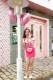【在庫限り】【即日発送】アメリカンウェイトレキッズ女の子用(子供衣装ピンク)《ハロウィンコスプレ3点セット》【Malymoon/マリームーン】【3540kids-2】