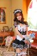【予約-10月25日頃より順次発送予定】レースブラックメイド服《ハロウィンコスプレ6点セット》【Malymoon/マリームーン】【m5346】