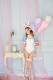 【即日発送】バルーンスリーブバニー《ハロウィンコスプレ4点セット『Malymoonデザインコンテストグランプリ受賞作品』【9543】