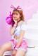 【即日発送】ピンクチアガール3カラー《ハロウィンコスプレ6点セット》【Malymoon/マリームーン】【3524】