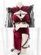 【即日発送】ワインレッドチャイナドレス《かわいいコスプレ4点セット》【SEVENTY-THREE】【2707】