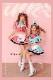 ウェイトレス ピンク ブルー ハロウィン コスプレ コスチューム 仮装 レディース【malymoon】 【3519-2】