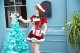 【即日発送】チェック柄サンタクロース《クリスマスコスプレ8点セット》【Malymoon/マリームーン】【8382】