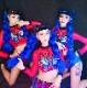 セクシー ダンスウェア セットアップ コスチューム デニム ピンク hiphop ヒップホップ ストリートダンス ダンス衣装 イベント 発表会 ステージ【dance-8126】