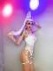 ダンス衣装 セクシー ダンス 衣装 ダンスウェア ダンスウエア 舞台衣装 レース ボディスーツ ハーネス セット【dance-8111】