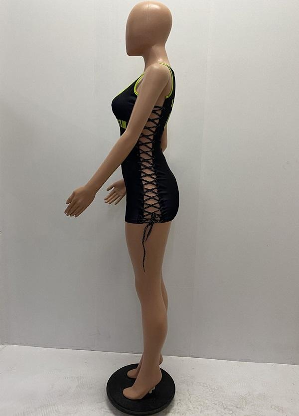 ダンス衣装 セクシー ダンス 衣装 ダンスウェア ダンスウエア 舞台衣装 ワンピース レースアップ【dance-8115】