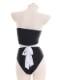 ブラックレオタードメイド服《かわいいコスプレ5点セット》【7moe/ナナモエ】【s0651】
