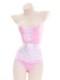 ピンクレオタードメイド服《かわいいコスプレ5点セット》【7moe/ナナモエ】【s0651-2】