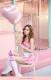 【即日発送】ピンクストライプウェイトレス【7点セット】ハロウィンコスプレ ピンクMalymoon【70898-2】