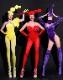セクシー ダンスウェア  赤 レッド コスチューム ダンス衣装 イベント ダンス 衣装 派手 目立つ ステージ 舞台 【dance-8441】