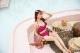 【即日発送】フレアトップス付きビキニ水着ピンク《レディース水着3点セット》【1912】