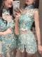 私服系チャイナドレスブルー《かわいいコスプレ2点セット》【Malymoon/マリームーン】【9233】