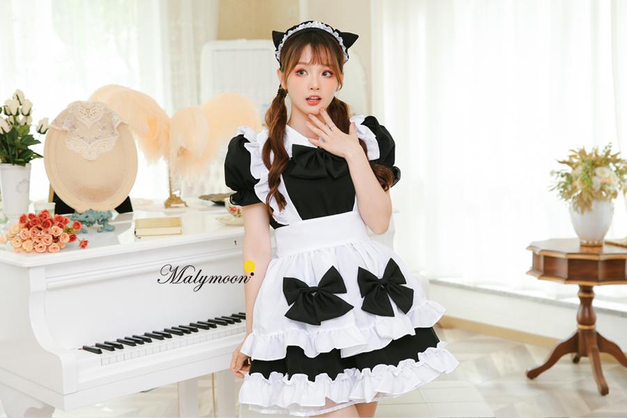 完全受注オーダー高級メイド服《かわいいコスプレ3点セット》【Malymoon/マリームーン】【m8150】