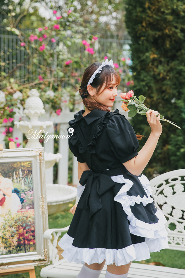 完全受注オーダー高級メイド服《かわいいコスプレ3点セット》【Malymoon/マリームーン】【m8153】