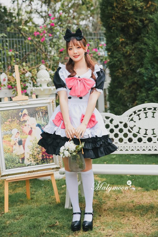 完全受注オーダー高級メイド服《かわいいコスプレ3点セット》【Malymoon/マリームーン】【m8155】