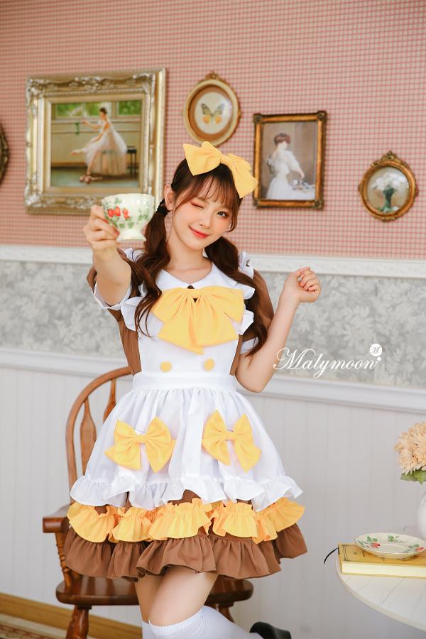 完全受注オーダー高級メイド服《かわいいコスプレ3点セット》【Malymoon/マリームーン】【m8156】
