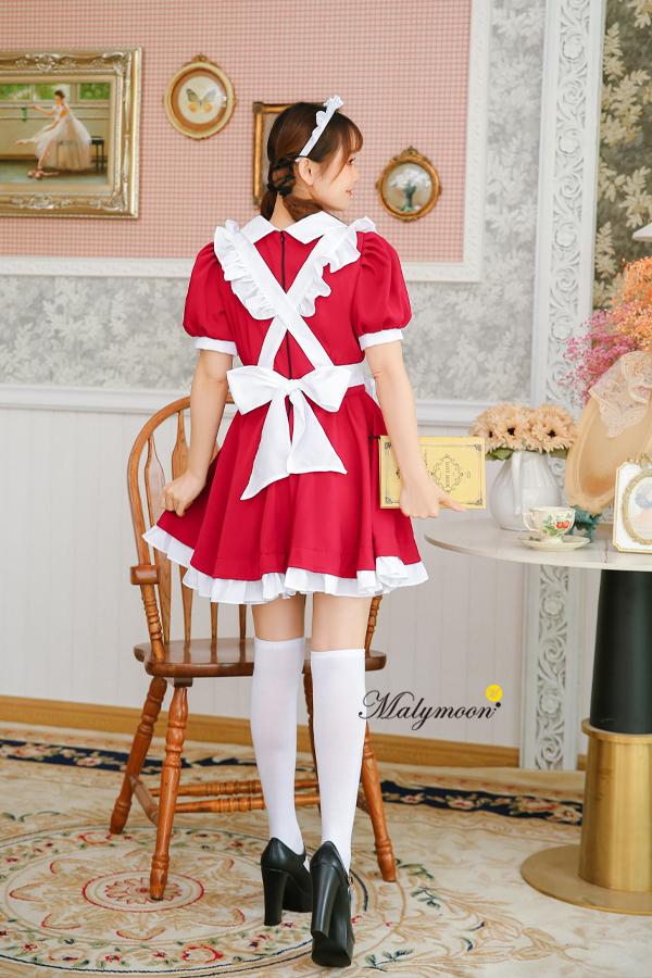 完全受注オーダー高級メイド服《かわいいコスプレ3点セット》【Malymoon/マリームーン】【m8159】