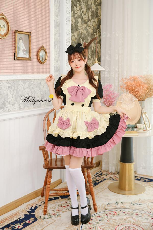完全受注オーダー高級メイド服《かわいいコスプレ3点セット》【Malymoon/マリームーン】【m8161】