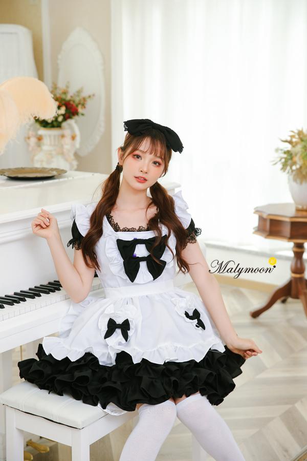 完全受注オーダー高級メイド服《かわいいコスプレ3点セット》【Malymoon/マリームーン】【m8162】