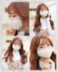 【ネコポス送料無料】【即日発送】オリジナルマスク/ニット素材セット売り『3カラー3枚セット』【Malymoon/マリームーン】【mask-knit-set】