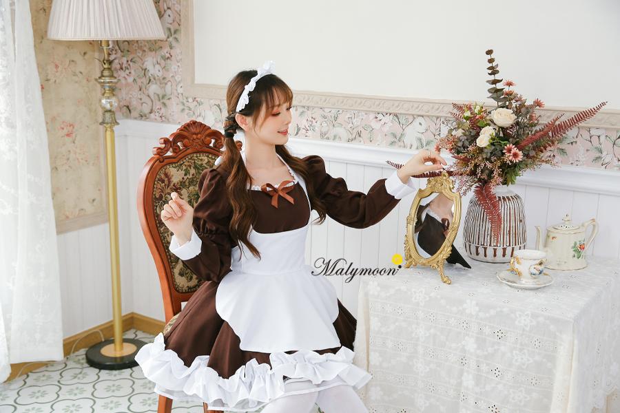完全受注オーダー高級メイド服《かわいいコスプレ3点セット》【Malymoon/マリームーン】【m8163】