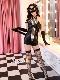 【即日発送】黒猫セクシーキャット/SM女王様(ボンテージ)《ハロウィンコスプレ4点セット》【Malymoon/マリームーン】【9732】