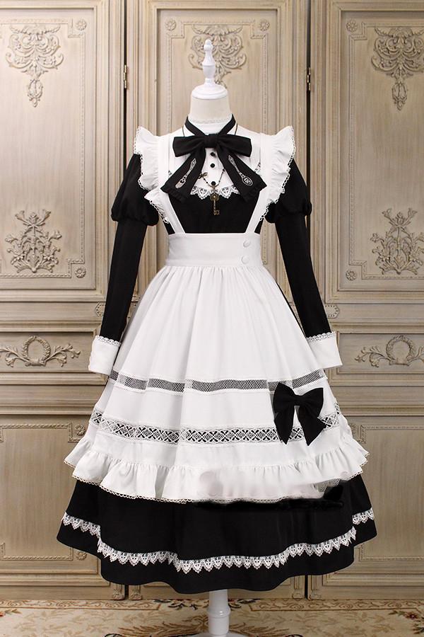 【即日発送】ロリータメイドコスチューム《かわいいコスプレ5点セット》【Alice girl】【4288】