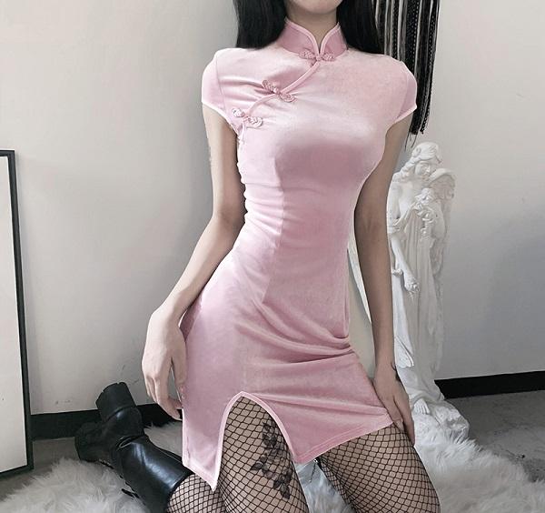 私服系チャイナドレス《かわいいコスプレ1点セット》【Malymoon/マリームーン】【9347】