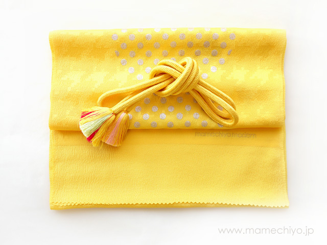 帯締 菊房 (黄色)