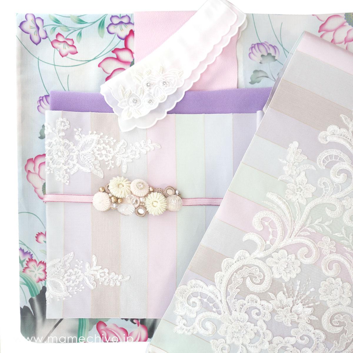 単衣帯 博多織ひとへこえ「Fleur(フルール)」(mamechiyo modern Couture)