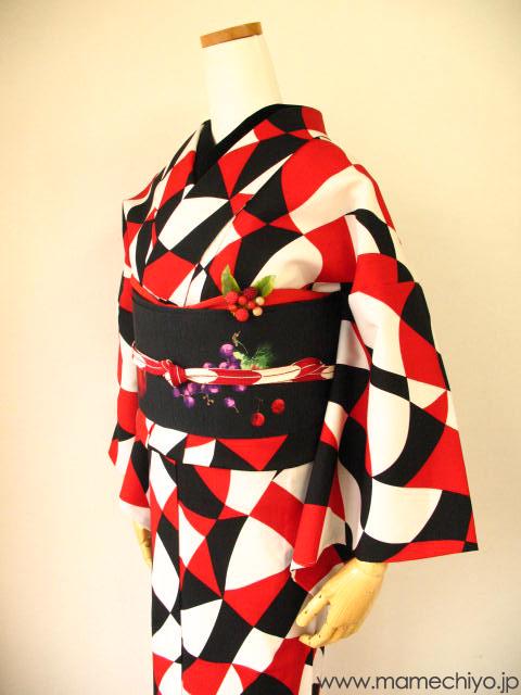 単衣着物 タイムマシーン/赤  S・Mサイズのみ【店頭在庫含む】