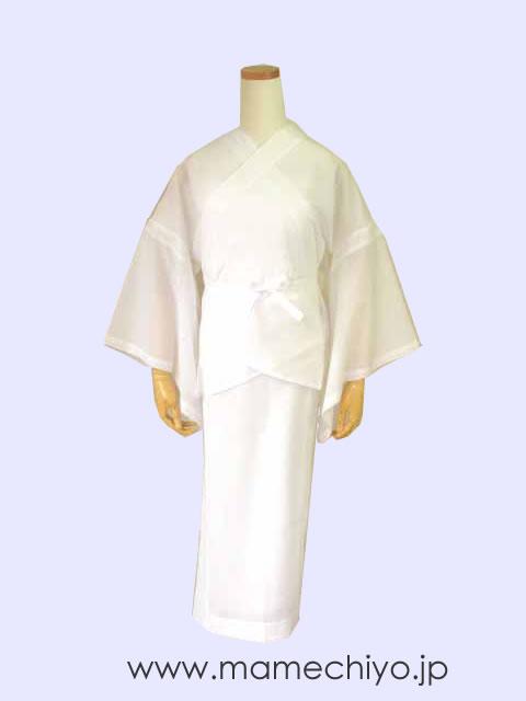 【わけアリSALE】 襦袢 爽竹 (ホワイト) L/2尺袖Mサイズのみ