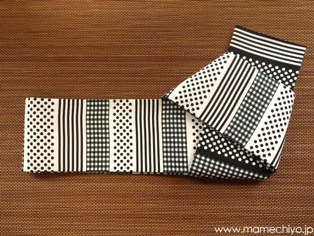 セオα半巾帯 リバーシブル 「モノトーン」