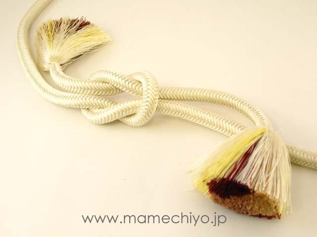 帯締 菊房 (キナリ)