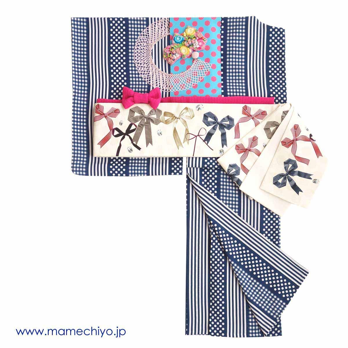 半巾帯 リボン