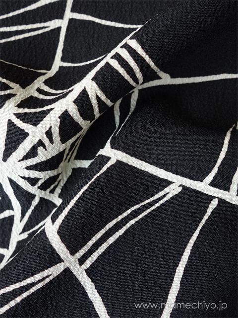 単衣着物 蜘蛛の巣(黒)【店頭在庫含む】