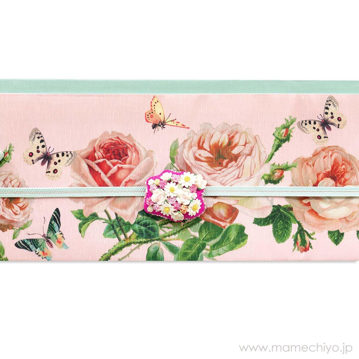 半巾帯 薔薇の香り ロココピンク