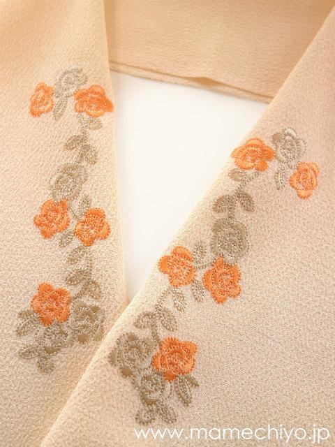 半襟 flower arch (オレンジ)