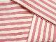 染め帯 キャンディ*ストライプ ピーチ 半巾帯仕立て【店頭在庫】