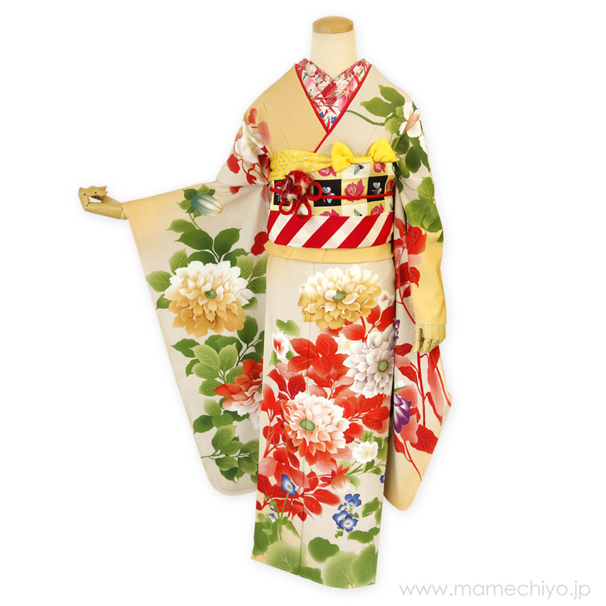 絵羽振袖 kotoho‐ことほ‐ 橙色(だいだいいろ)