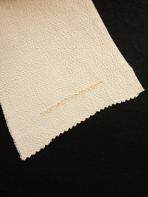 正絹半襟 鱗にクローバー(白)