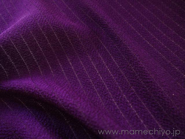 夏帯揚げ 絽縮緬 紫