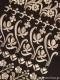 半襟 レース(黒×銀刺繍)【店頭在庫】